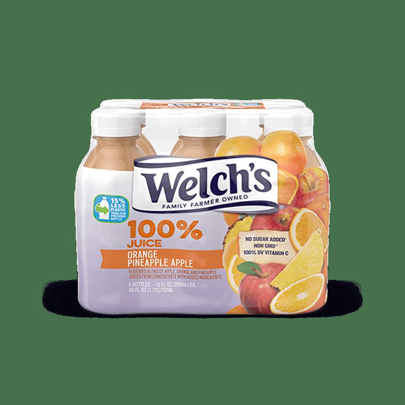 100% Juice Orange Pineapple Apple
